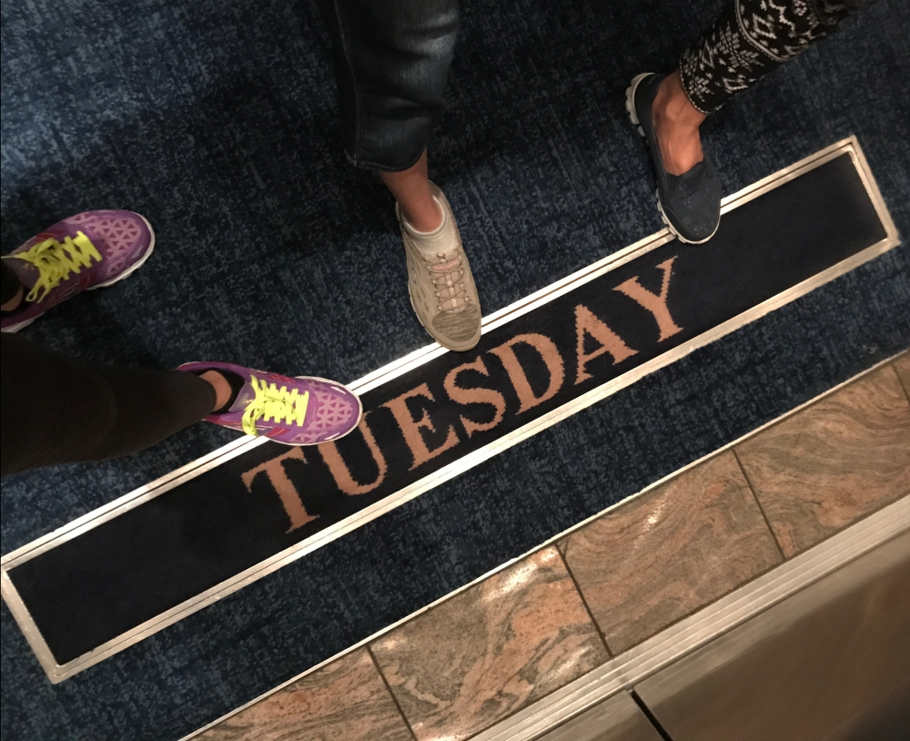 tuesday carpet in Royal Caribbean Cruise elevator