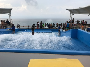 Checking out flowrider