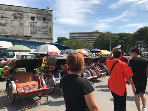 Tricycles for sightseeing tour around the Heritage trail