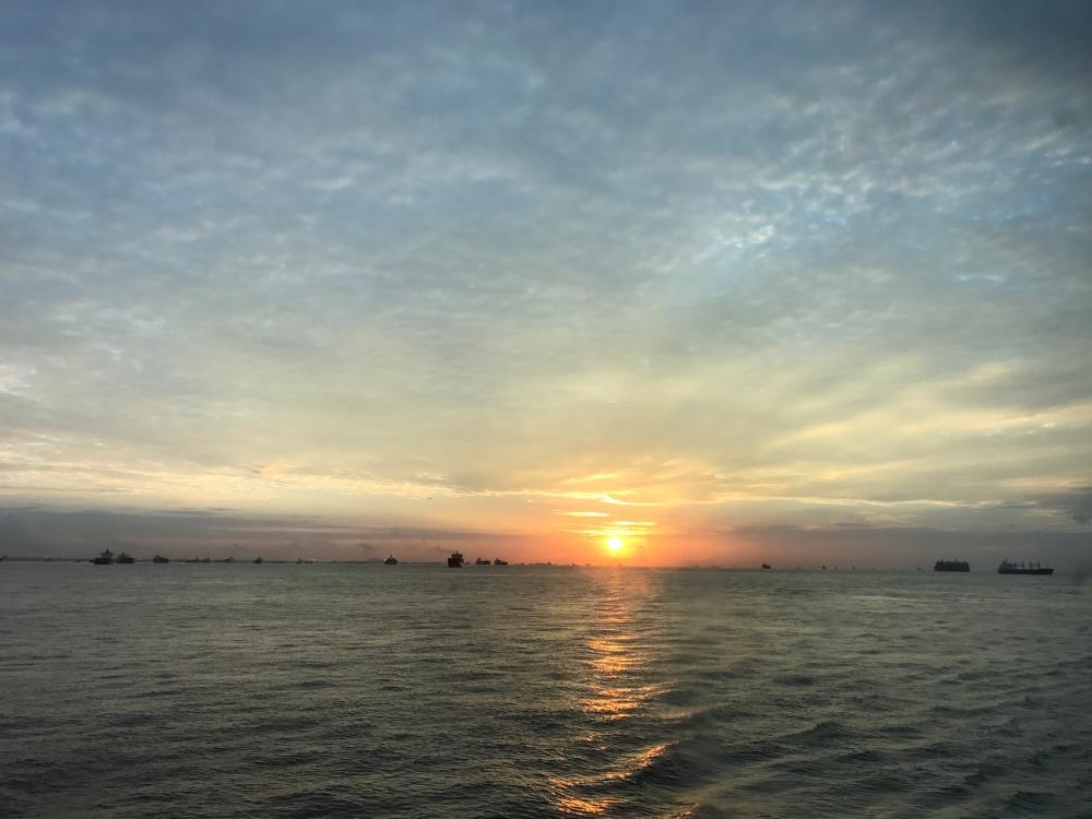 sunrise in the sea